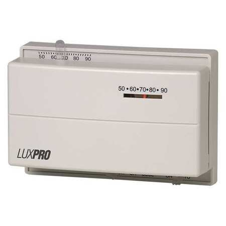 Lux Mechanical Thermostat ,  1 H 1 C,  Hardwired ,  24VAC PSM400SA