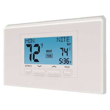 Lux Programmable / Non-Programmable Thermostat ,  2 H 2 C,  Wall Mount,  P722U