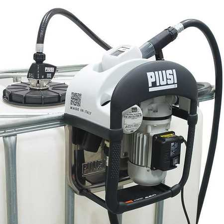Piusi Electric Operated Drum Pump,  120VAC,  9 GPM,  370W HP,  Stainless steel F00101A0A