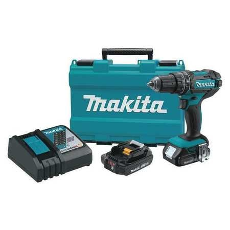 Makita 18.0 V Hammer Drill,  Battery Included,  1/2 in Chuck XPH10R