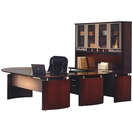Napoli Office Desk Set 32, Mahogany