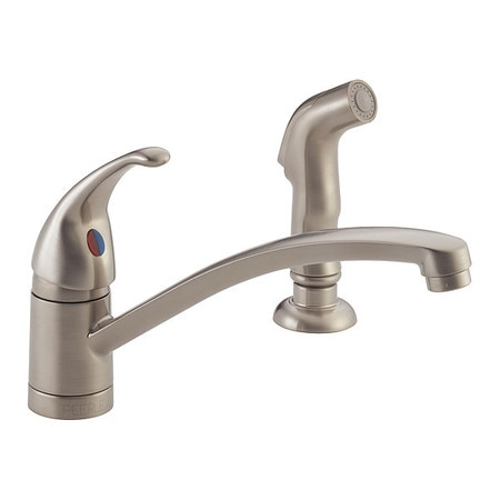 Delta Kitchen Faucets.Delta Kitchen Faucet W Matching Sidespray P188501lf Ss Zoro Com