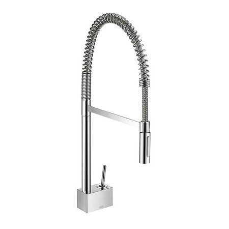Kitchen Faucet w/Mtl Spray Head, Dck Mntd