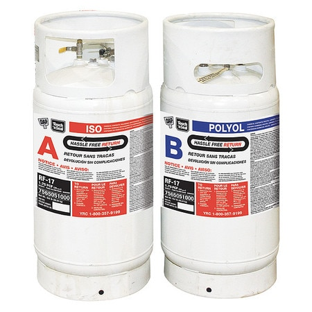 Touch N' Seal Multipurpose/Construction Spray Foam Sealant,  1000.8 lb,  Two Cylinders,  Cream,  2 Component 7565020120
