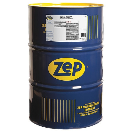 Zep Liquid 55 gal. Dyna Blue Cleaner and Degreaser,  Drum ,  PK1 36985