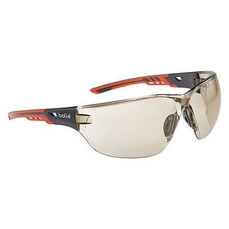 Bolle Safety Safety Glasses,  Traditional Amber Polycarbonate Lens,  Anti-Fog NESSPCSP