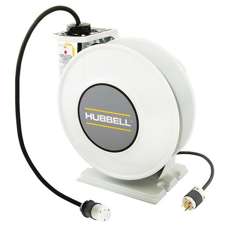 Hubbell Wiring Device-Kellems Extension Cord Reel 20.0 A Amps 0 Outlets 125V AC Voltage HBLI45123TL20