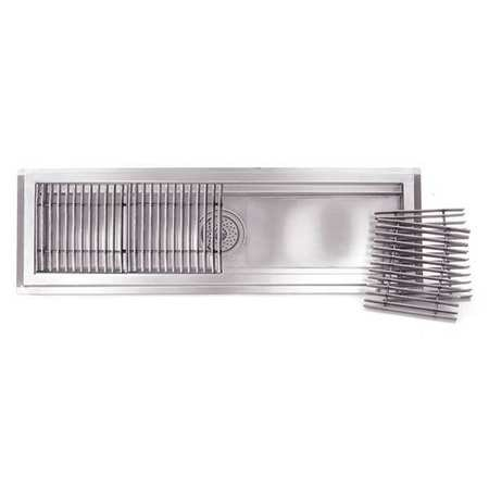 """Eagle Group Floor Trough, Stainless Steel, 12""""Wx36""""L FT-1236-SG"""
