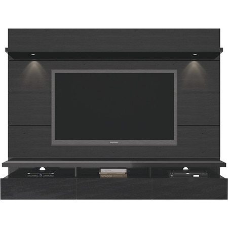 Cabrini 2 Floating Wall Theater Entertainment Center Black