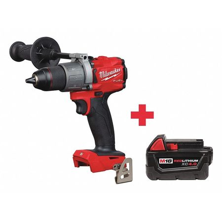 Milwaukee 18V Hammer Drill,  Battery Included,  1/2 in Chuck 2804-20, 48-11-1840