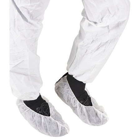 Ansell Overshoes, Non Sterile, White, PK1000 ESD016W