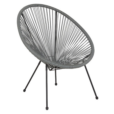 """Flash Furniture Contemporary Chair,  11-1/2"""" Height,  Grey TLH-094-GREY-GG"""