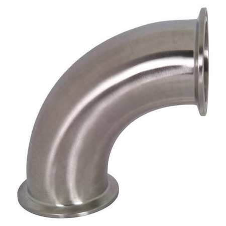 3 Tube OD 90 Degree Clamp Elbow Dixon B2CMP-G300 Stainless Steel 304 Sanitary Fitting