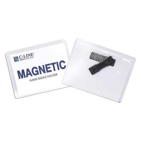 """C-Line Products Magnetic Style Name Badge Kit, 4x3"""", PK20 92943"""