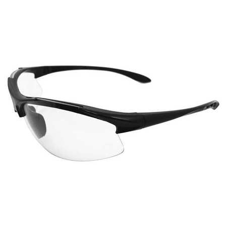 Erb Safety Safety Glasses,  Clear Polycarbonate Lens,  Scratch-Resistant 18612