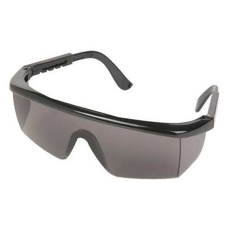 Erb Safety Safety Glasses,  Gray Polycarbonate Lens,  Scratch-Resistant 15201