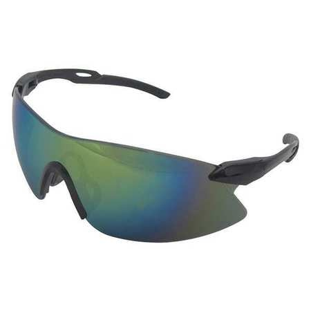 Erb Safety Safety Glasses,  Gold Mirror Polycarbonate Lens,  Scratch-Resistant 15424