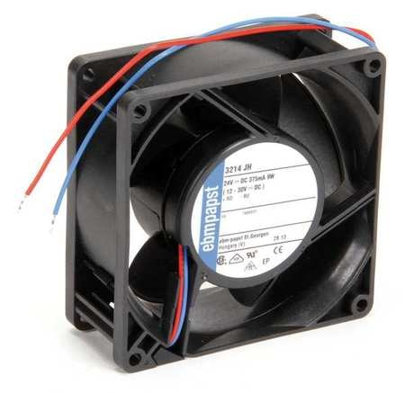 Ebm-Papst Axial Fan,  Square,  24V DC,  86 cfm,  3 5/8 in W. 3214JH