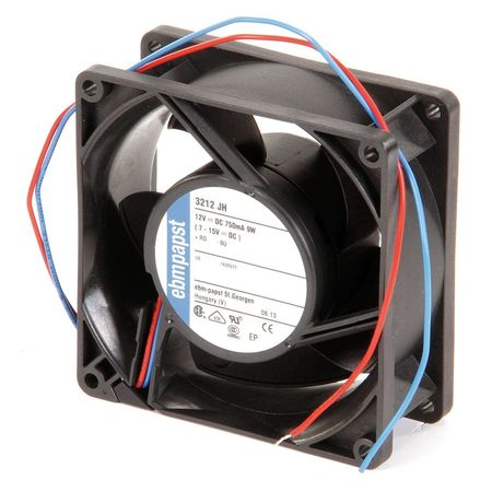 Ebm-Papst Axial Fan,  Square,  12V DC,  86 cfm,  3 5/8 in W. 3212JH