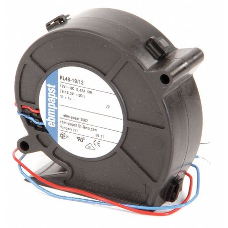 Ebm-Papst Compact Blower,  Square,  12V DC,  16.5 cfm cfm,  3 in W. RL48-19/12