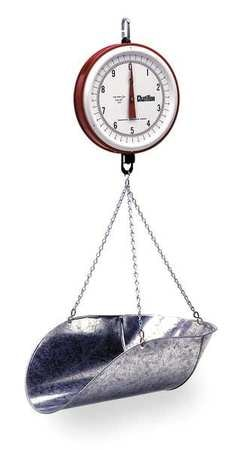 Chatillon & Sons Mechanical Hanging Scale, Dial, 7 In. H 0720DD-T-CG