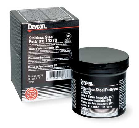 Devcon Gray Putty,  1 lb. Can,  Work Life: 58 min 10270