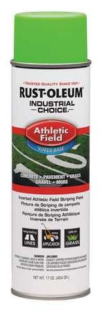 Rust-Oleum Athletic Field Striping Paint,  17 oz.,  Fluorescent Green,  Water -Based 257403