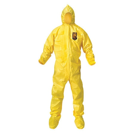 Kimberly-Clark Hooded Disposable Coveralls,  2XL,  12 PK,  Yellow,  KleenGuard A70 00685