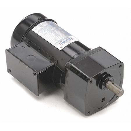 Leeson AC Gearmotor,  244.0 in-lb Max. Torque,  58 RPM Nameplate RPM,  208-230/460V AC Voltage,  3 Phase 096067.00