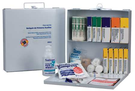 First Aid Only First Aid Kit, Bulk, White, 196 Pcs, 50 Ppl