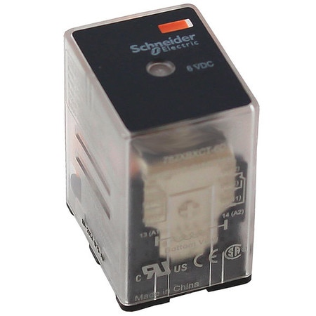 Schneider Electric General Purpose Relay,  12V DC Coil Volts,  Square,  8 Pin,  DPDT 782XBXC-12D