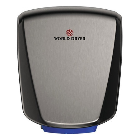 World Dryer Hand Dryer, Gray, SS Cover Q-973A2