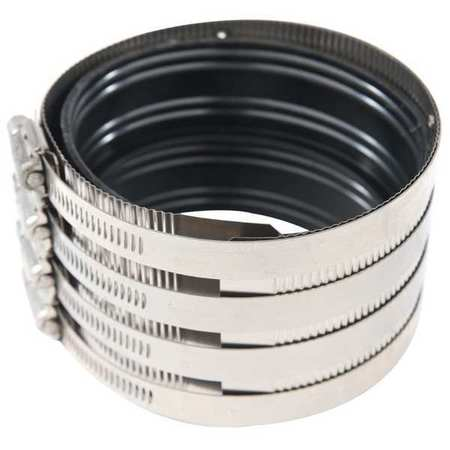 Zoro Select Hex Coupling,  SS,  10 in Pipe Size,  Black HDC1000