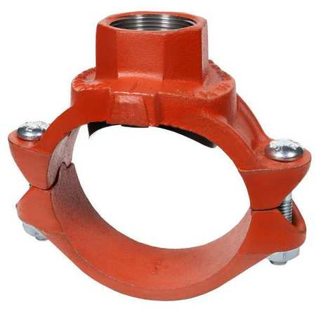 Gruvlok Clamp-T,  Ductile Iron,  4 x 4 x 3/4 in 0390171239