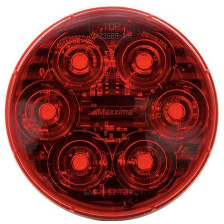 """Maxxima LED Red 4"""" Round Stop/Tail/Turn M42358RDF-MH"""