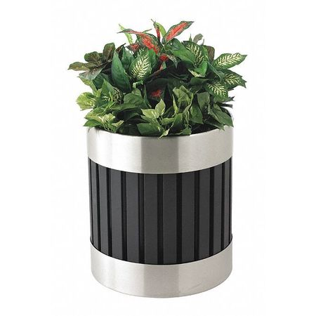 Commercial Zone Products Riverview Planter, Blk, SS 727643
