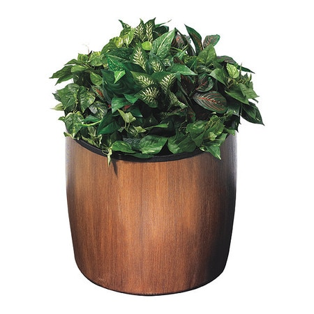 Commercial Zone Products Elmwood 10 gal., Planter, Walnut 756341