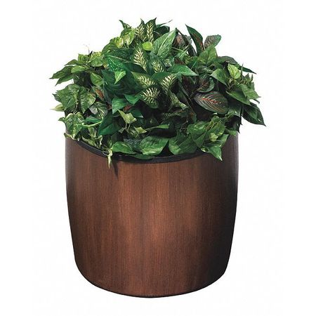 Commercial Zone Products Elmwood 10 gal., Planter, Espresso 756345