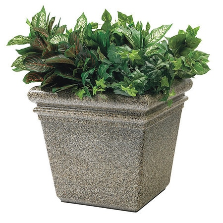 Commercial Zone Products StoneTec Sm Planter, Riverstone 724020