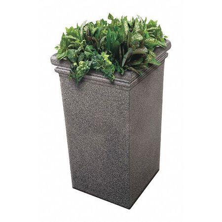 Commercial Zone Products StoneTec Tall Planter, Pepperstone 724119