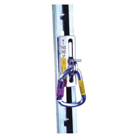 Msa Fall Arrester,  3 29/32 in,  400 Weight Capacity,  Silver 506277