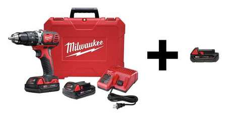 Milwaukee 18.0 V Hammer Drill,  Battery Included,  1/2 in Chuck 2607-22CT / 48-11-1820