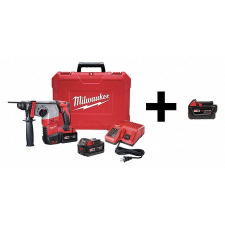 Milwaukee Rotary Hammer with Add Battery,  18V 2605-22 / 48-11-1840