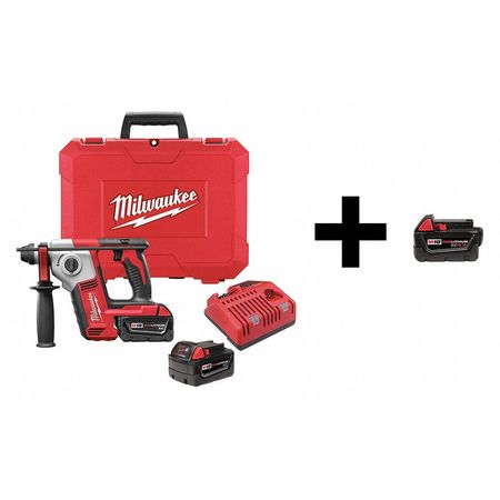 Milwaukee Rotary Hammer with Add Battery,  18V 2612-22 / 48-11-1840