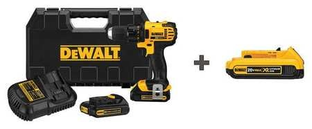 Dewalt 1/2 in,  20.0 Cordless Drill,  Battery Included DCD780C2, DCB203