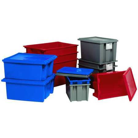L,Gray SNT185GY Nest and Stack Container,18 in