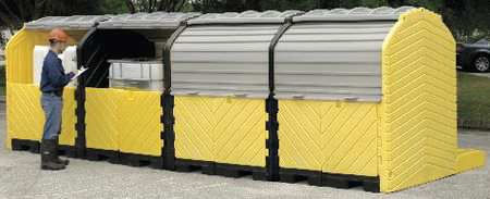 Ultratech Covered Four IBC Containment Unit,  365 gal Spill Capacity,  Polyethylene 1167