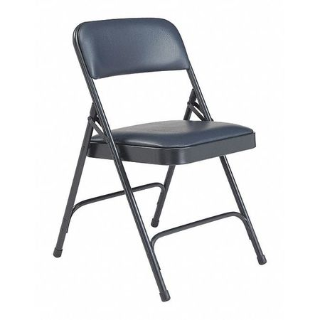 Awe Inspiring Folding Chair Vinyl Blue Pk4 Ocoug Best Dining Table And Chair Ideas Images Ocougorg