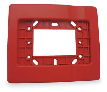 Edwards Signaling Trim Plate, Red, H 1/2 x L 5 7/8 In EG1RT