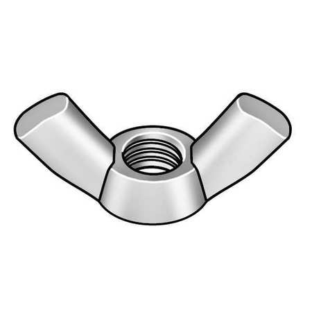 ZORO SELECT 1WY91 #10-32 18-8 Stainless Steel Plain Type D-Stamped Wing Nuts,